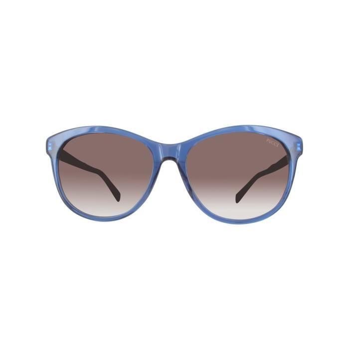 Lunettes de soleil femme EMILIO PUCCI EP0022 BLUE-OTHER-GRADIENT BROWN 7c0f2b9b0aa5