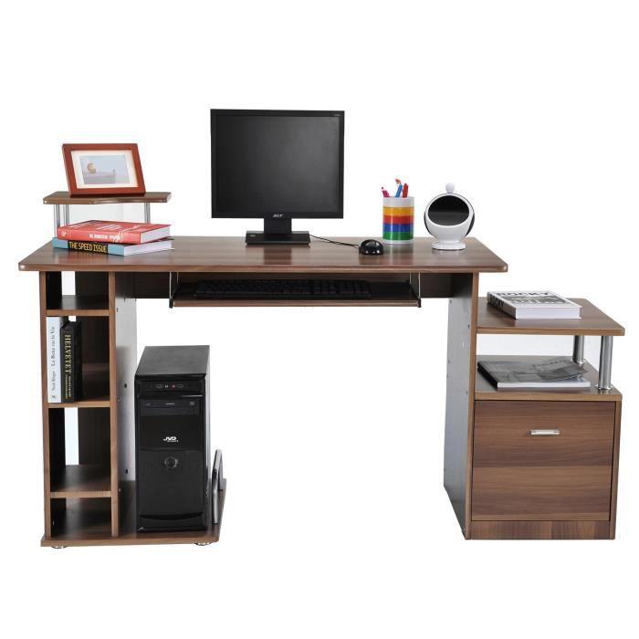 bureau informatique avec rangement achat vente pas cher cdiscount. Black Bedroom Furniture Sets. Home Design Ideas