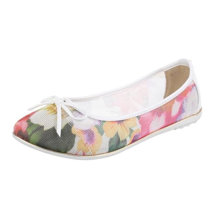 Chaussures femmes Ballerine PERFORATED Escarpins or Multi e4U040VTvv