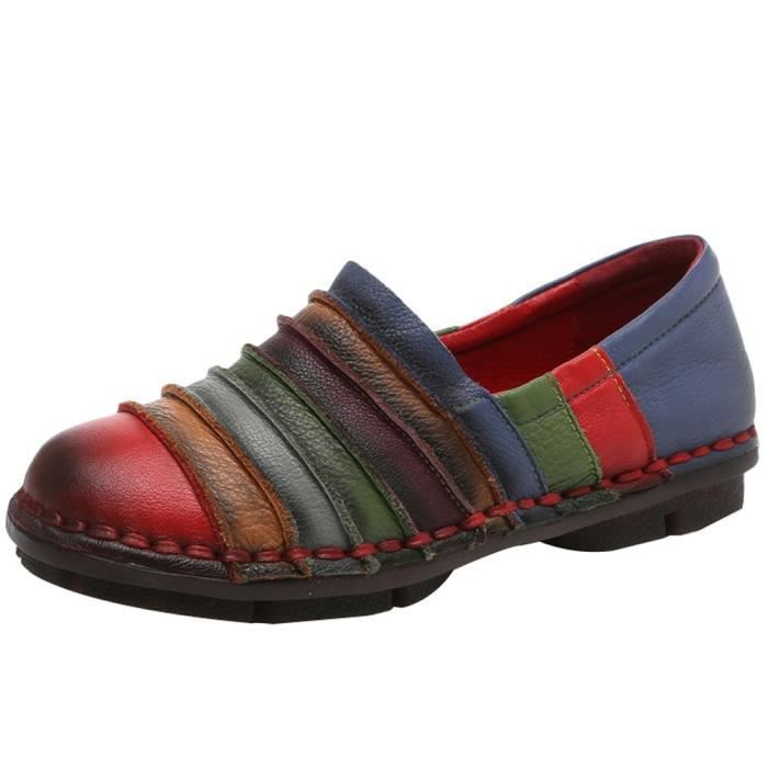 Round Toe Slip-on Flat Mocassins New Shoes RRZHE Taille-38 1-2