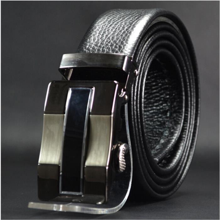 7cd8a22dd68 Ceinture Haut de gamme nouvelle mode en cuir recto-verso en cuir boucle  automatique hommes ceinture