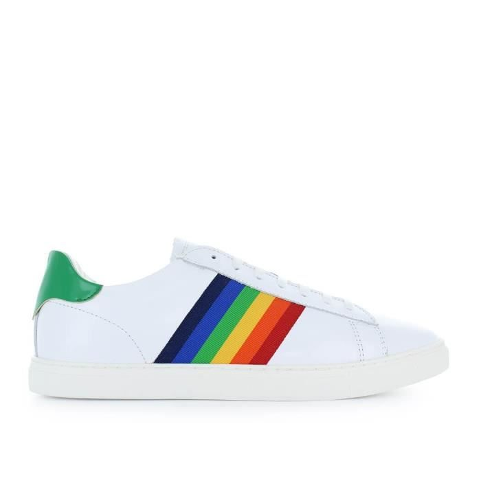 DSQUARED2 HOMME SNM000506500449M243 BLANC CUIR BASKETS