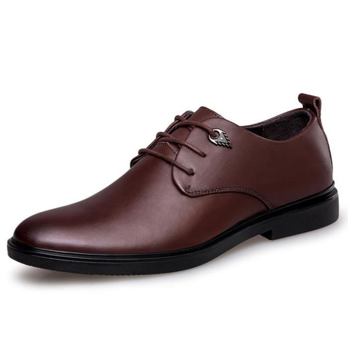 2018 La première couche de chaussures en cuir des hommes de la nouvelle couche de chaussures de hommes d'affaires chaussures en