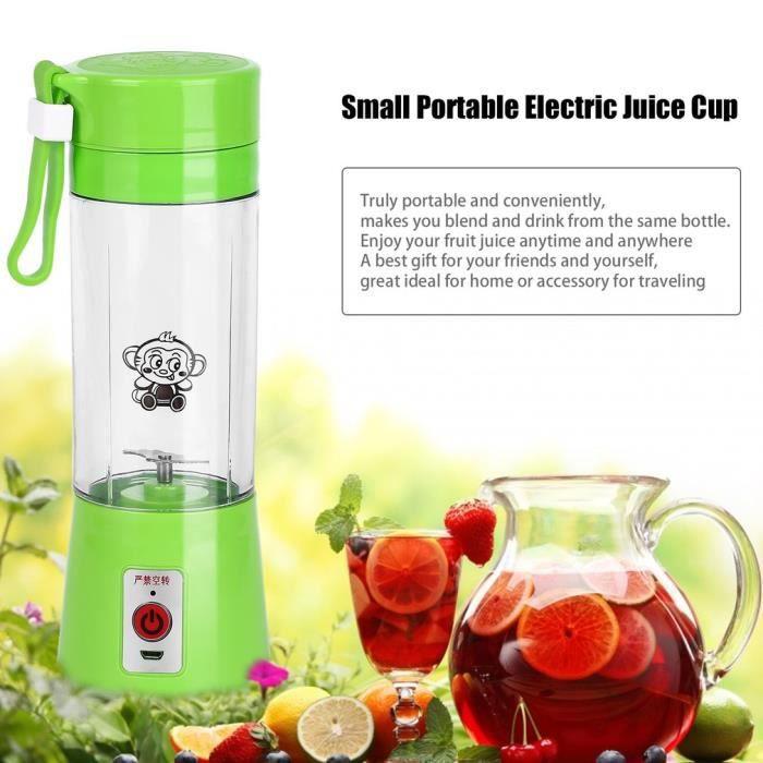 PRESSE-AGRUME Tasse électrique à jus-380ML portable vert