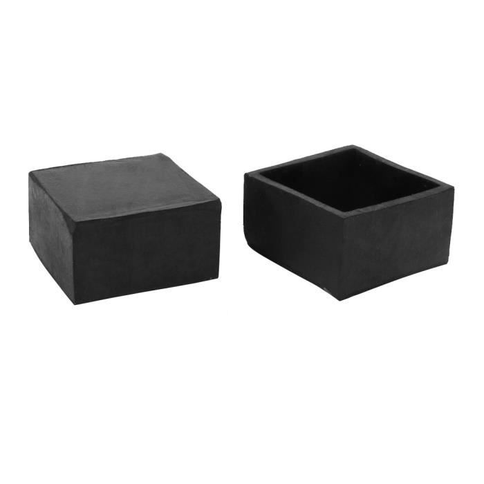 Sourcing Map 40mmx40mm Carre Chaise Jambe Sol Protecteur Table Pied Pointe Coverture 2pc Rubber