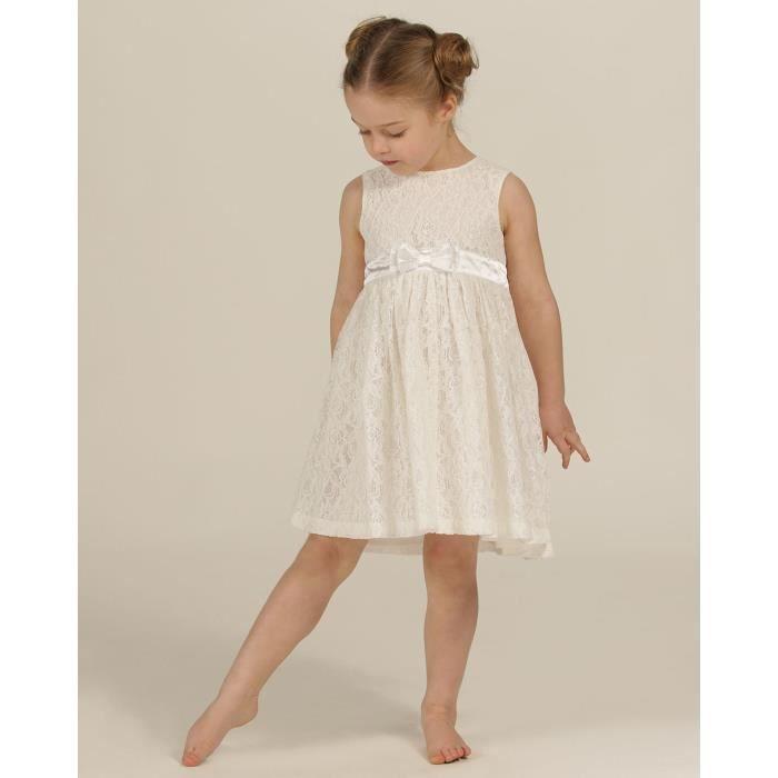 The Essential One - Bébé Enfant Fille - Robe Occasion Spéciale - Blanc - EOT375