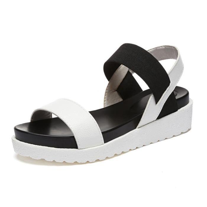SHELOVEIT® Des sandales Femmes Élastique B: et Décontractée Appartement très bjpBJCvQMA
