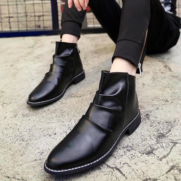 Chaussures homme Bottes courtes Bottes hiver Chaussures étanches Bottes mode Chaussures chaudement Chaussures montantes Chaussures
