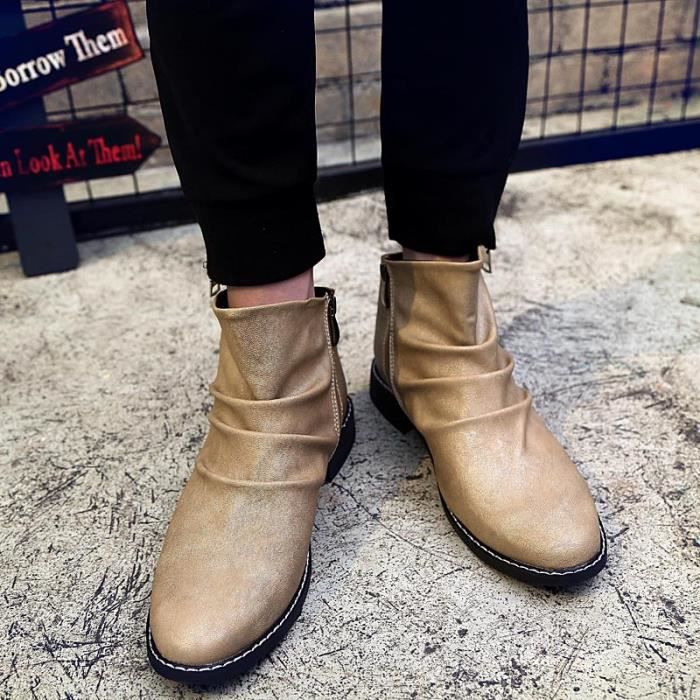 Chaussures Homme Bottes courtes Chaussures étanches Bottes mode Chaussures chaudement Chaussures montantes Chaussures confortables tFjN13