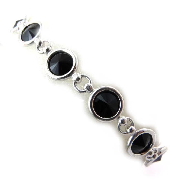 Lily-Crystal [N3508] - Bracelet Argent Sissi (Crystal)