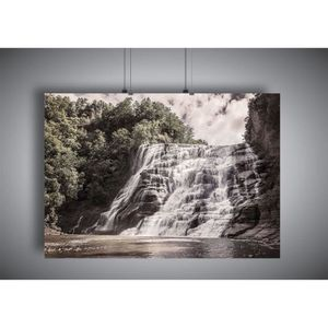 AFFICHE - POSTER Poster Cascade waterfall lagon nature landscape -