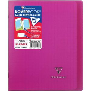 CAHIER CLAIREFONTAINE Cahier piqûre Koverbook - 96 pages