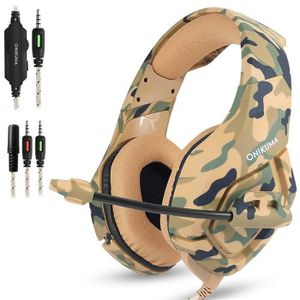 CASQUE AVEC MICROPHONE Casque Gaming pour PS4 Xbox one S Camouflage Casqu