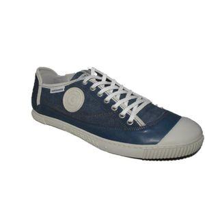 BASKET Pataugas Brad cuir/toile bleu jean