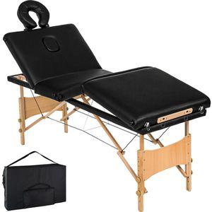 TABLE DE MASSAGE Table de massage Pliante 4 Zones Bois, Cosmétique,