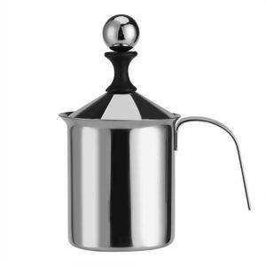 MOUSSEUR À LAIT  Mousseur à lait manuel en acier inoxydable 400 ml