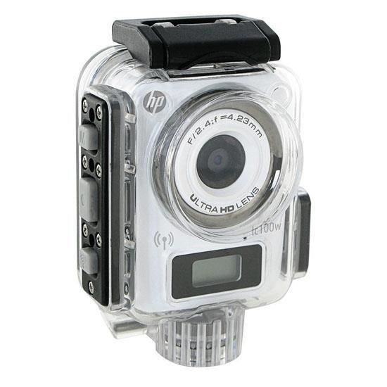 HP LC100W Mini Caméra sport étanche - 8 MPx - Wi-Fi -  Blanc