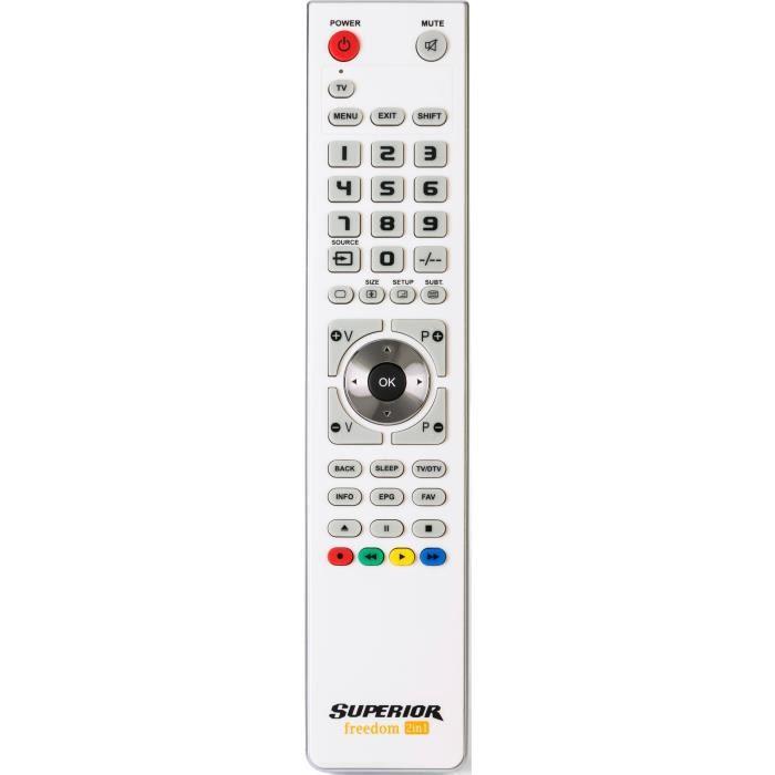 SUPERIOR ELECTRONICS SUP008 Télécommande universelle pour 1 appareil FREEDOM 1 - Blanche