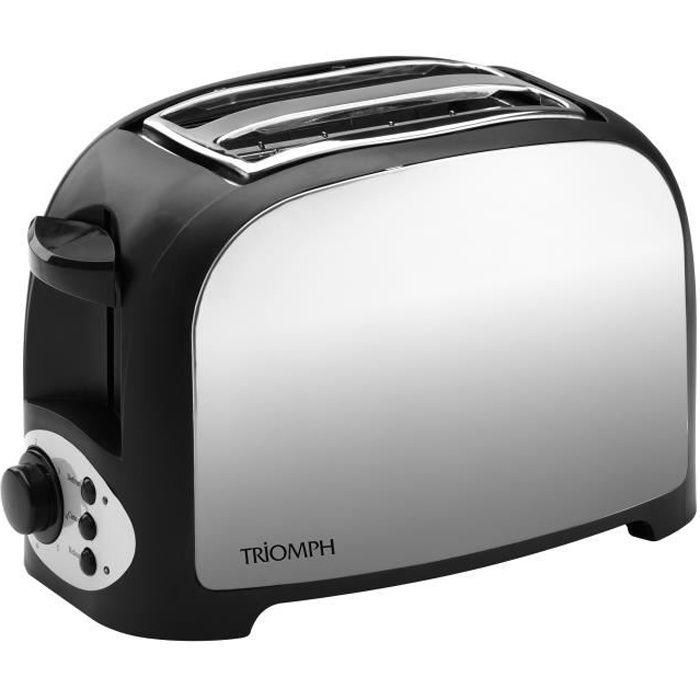 Grille pain - 2 petites fentes avec centrage automatique - Variateur de puissance électronique - Fonctions : annulation / réchauffage / décongélationGRILLE-PAIN - TOASTER