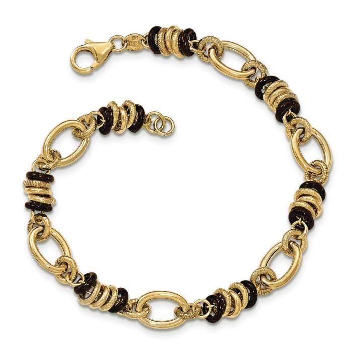Marron/poli 14 carats Bracelet lien-Fantaisie-8