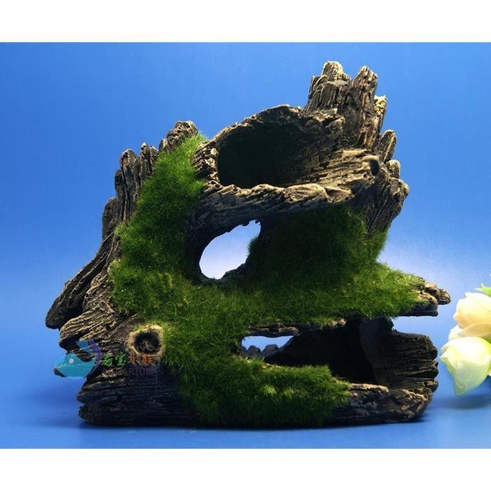 D composition tronc aquarium bois flott de r sine de - Resine de decoration ...