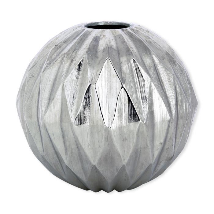 vase couleur argent achat vente vase couleur argent pas cher cdiscount. Black Bedroom Furniture Sets. Home Design Ideas