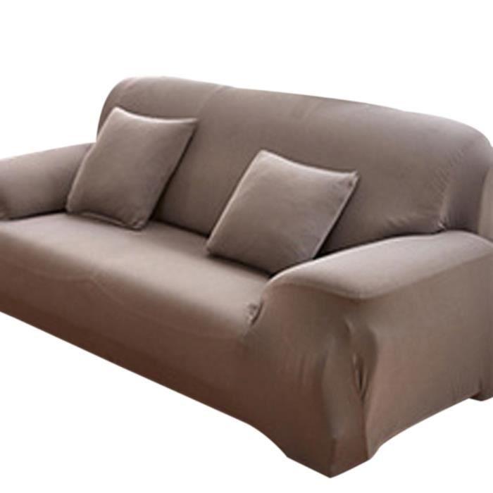 gris housse de canapé 2 places avec accoudoir extensible clic clac