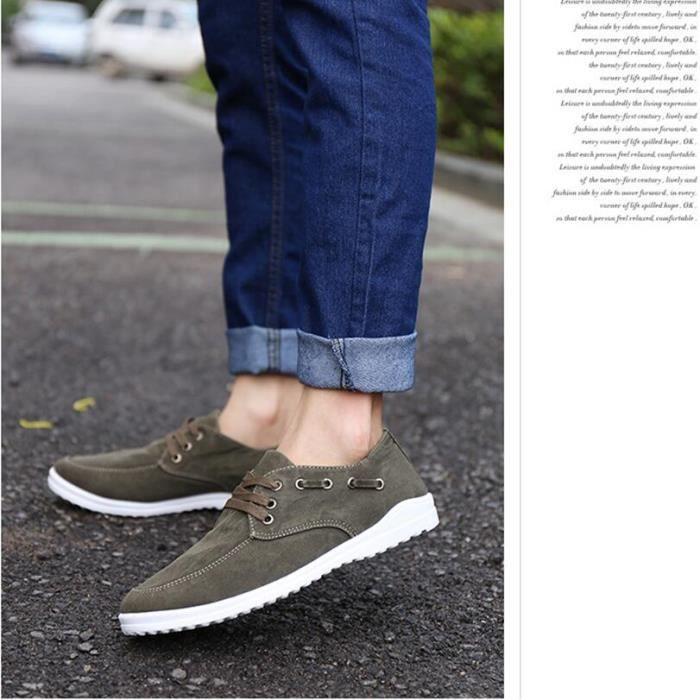 Loisirs Mode Denim Sneakers homme Vert bkE0I2wtG