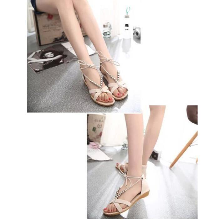 Été nouvelle pente avec des sandales perlées chaussures en dentelle avec petite pente chaussures à talons 6CrTv
