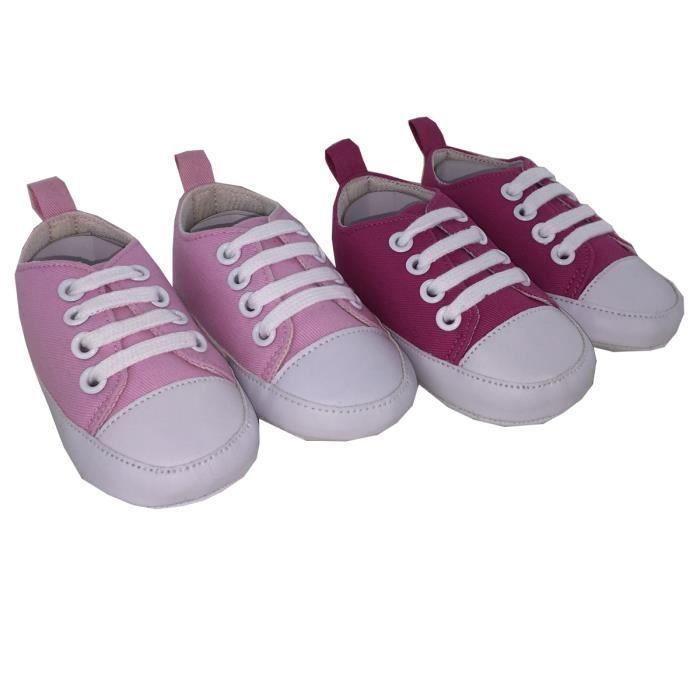Chaussures Bébé Lot de 2 Fushia/rose