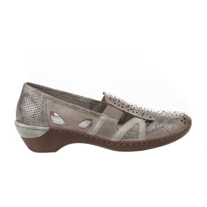 Chaussures de confort femme RIEKER Beige 48385 42