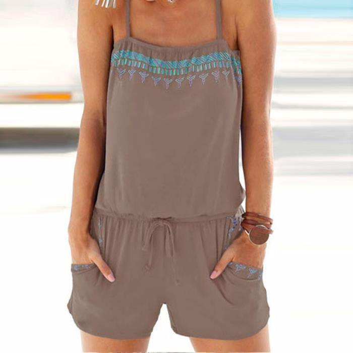 Rw7575 Jumpsuit Rompers Décontracté Beach Summer Holiday Femmes Combishort Mini Dames qzvPUP6