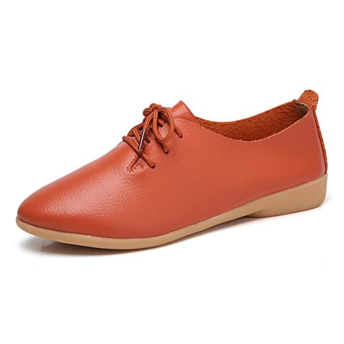 Chaussures 1 Classique Oxford Taille 2 Flats We3yd 41 Femme xACUfqw