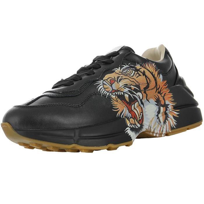 sale save off big discount Baskets Gucci Rhyton Vintage pour Femme et Homme Tigre, Chaussures de sport  Noir