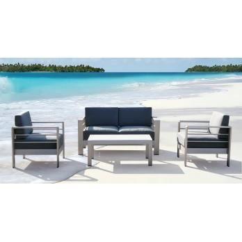 Salon de jardin aluminium Ozalide - Achat / Vente Salon de ...