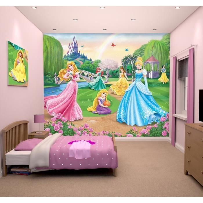 papier peint enfant disney princesses fresque murale