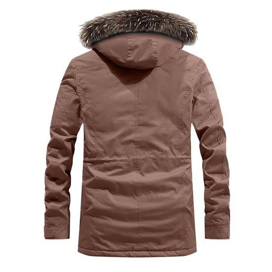 À Top Hommes Coat Café Zipper Bouton Mode Automne D'hiver Casual Thermal Capuche Pocket Fw1xvUq00