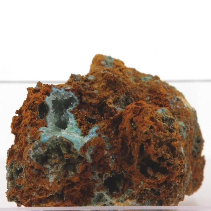 Pierre-Sénégalite sur Turquoise. 34.9 cts. Mont Kouroudiako, Sénégal, Afrique
