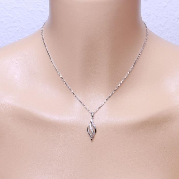 Pendentif Or 750 Diamant ref 44709 Blanc