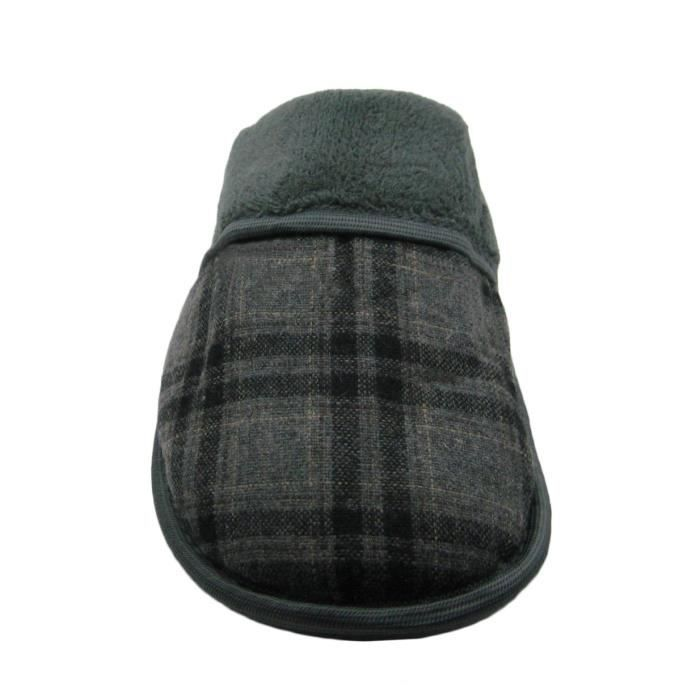 Micro-suede Or Plaid Upper Scuff House Slipper N9VYG Taille-42 Rt6yH