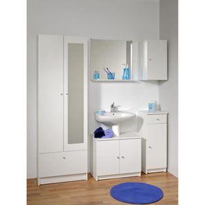 rangement salle de bain achat vente rangement salle de bain pas cher cdiscount. Black Bedroom Furniture Sets. Home Design Ideas