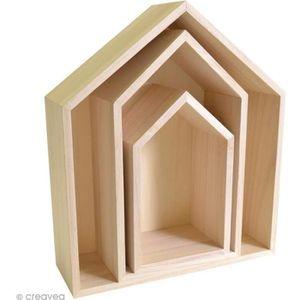 etagere maison bois achat vente pas cher. Black Bedroom Furniture Sets. Home Design Ideas