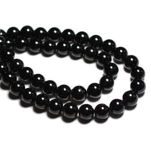 PIERRE VENDUE SEULE 10pc - Perles de Pierre - Tourmaline Noire Boules