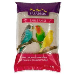 FOND DE CAGE Paradisio - Sable Anisé pour Oiseaux - 5Kg