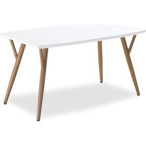 TABLE À MANGER SEULE Table scandinave Mya Blanc - 4 à 6 personnes