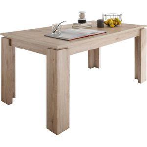 TABLE À MANGER SEULE Table à manger extensible coloris chêne San Remo
