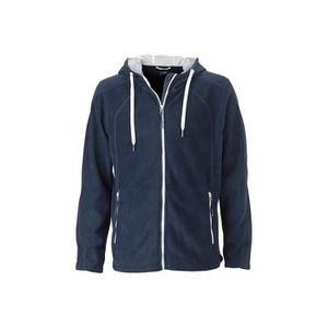 057a4be5007 SWEAT-SHIRT DE SPORT Sweat-Shirt polaire Homme - MARINE-BLANC