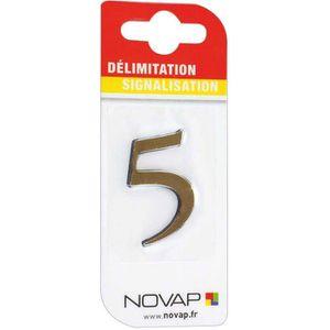 CONE - RUBAN CHANTIER Adhésif plastique en relief coloris or Novap - 5