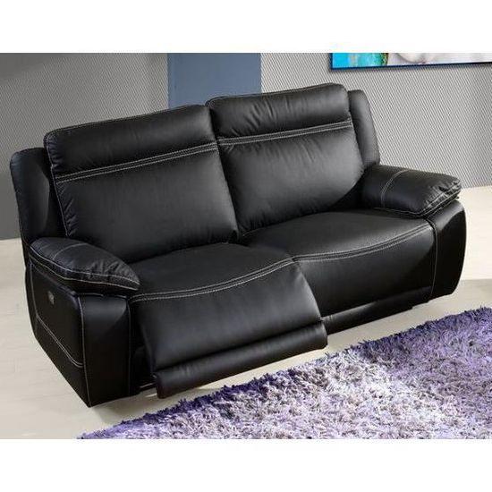 Canape 3 Places Avec Relax Electriques 190 Cm Angelot L