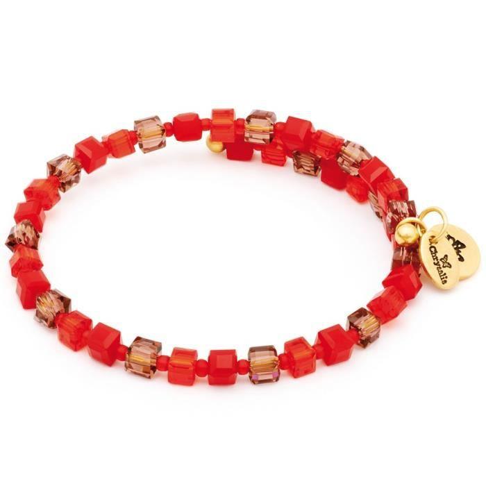 Chrysalis - Chrysalis Femmes Bracelet Gaia Sunset Verre Rouge 20.5 cm Réf 44036